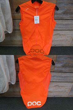 Vests 177856: Poc Avip Womens Cycling Wind Vest, Orange , Small New With Tags-Free Shipping BUY IT NOW ONLY: $35.53