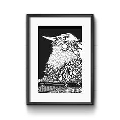 Kookaburra black&white; PrintThe Block Shop - Channel 9