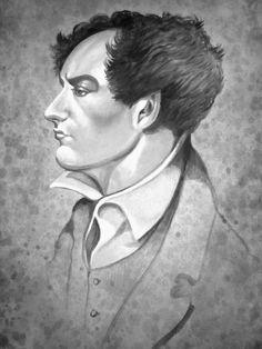 Lord Byron portrait .Gothic