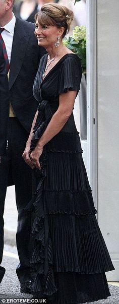 Carole Middleton arriving at her daughter's wedding reception.