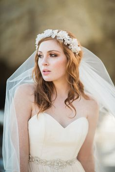 Bel Aire Bridal Floral Crown: http://www.stylemepretty.com/2015/10/15/bridal-week-accessories-that-shine/