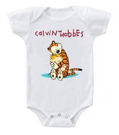 Cute Funny Custom Baby Bodysuits Creeper Calvin and Hobbes