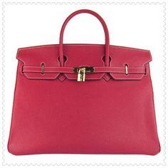Hermes Birkin Borse Pelle Pelle Lock d'oro rosso dettaglio Borse Moda