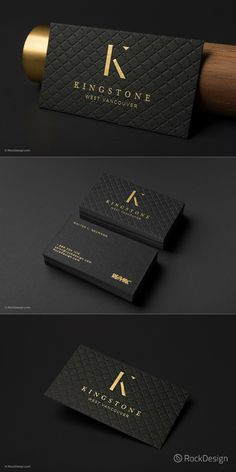 Business Card Upper Class, Embossed and Foil