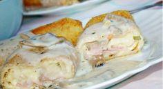 Sočne pohovane palačinke sa sirom i šunkom - Domaci Recept Potato Salad, Pork, Cooking Recipes, Chicken, Meat, Ethnic Recipes, Desserts, Photography, Cooking