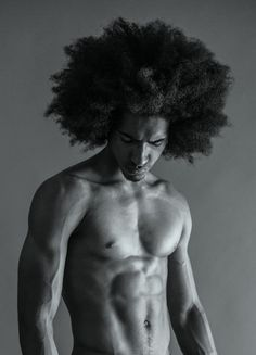 """Curls: Sharing the Curl with the brothers- """" Carlos Nunes """" Black Men Haircuts, Black Men Hairstyles, Afro Hairstyles, Natural Man, Pelo Natural, My Black Is Beautiful, Beautiful Men, Workout Playlist, Vegan Fitness"""
