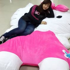 Giant Hello Kitty Plush Bed Shut Up And Take My Yen : Anime & Gaming Merchandise