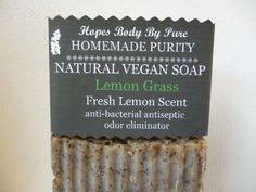 Handmade Homemade Natural VEGAN Olive Oil Soap LEMON GRASS Scented Essential Oil #HopesBodyByPure