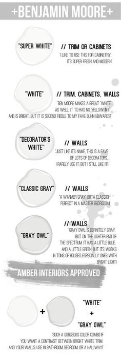 Excellent New 2015 Paint Color Ideas. Master bedroom : super white for the trim and classic gray for the walls The post New 2015 Paint Color Ideas. Master bedroom : super white for the trim and classi… appeared first on Home Decor . Benjamin Moore Super White, Benjamin Moore Gray, Decorator White Benjamin Moore, Benjamin Moore Decorators White, Interior Paint Colors, Paint Colors For Home, Paint Colours, Best Bathroom Paint Colors, Best Paint Colors