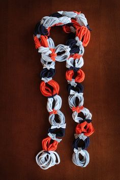 recycled t-shirt scarf - Click image to find more DIY & Crafts Pinterest pins