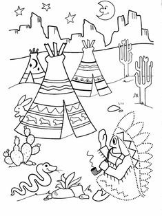 Printable worksheets for kids Connect the dots for Preschoolers 87 Native American History, Native American Indians, Indiana, Coloring Books, Coloring Pages, Colouring, Leaf Projects, Free Adult Coloring, Indian Theme
