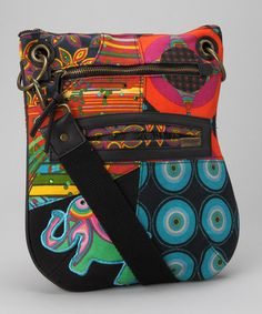 Take a look at this Black Galactic Elephant Crossbody Bag by Desigual Women on #zulily today! $36.99