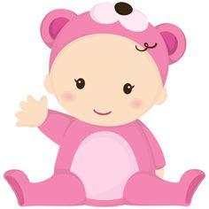 Dibujos. Clipart. Digi stamps - Minus - Baby pink - Bebé
