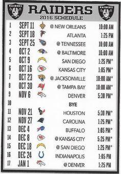 New, the oakland raiders 2016 nfl schedule fridge magnet Raiders Sign, Raiders Stuff, Raiders Baby, Oakland Raiders Football, Nfl Football, Raiders Schedule, Rough Riders, Raider Nation, Kansas City
