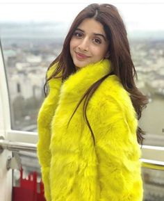 looks ultra chic as she steps out in neon yellow fur coat in ‼ 🇵🇰 Pakistani Models, Pakistani Actress, Stunning Dresses, Nice Dresses, Bright Blue Dresses, Prettiest Actresses, Bollywood Photos, Pakistani Bridal, Pakistani Girl