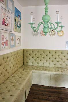 Back on Festive Road: DIY Tufted Banquette Tutorial