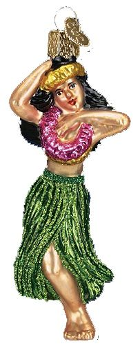 The Jolly Christmas Shop - Old World Christmas Hula Dancer Ornament, $12.99 (http://www.thejollychristmasshop.com/old-world-christmas-hula-dancer-ornament/)