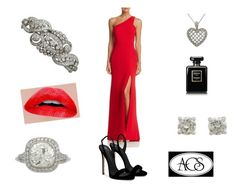 """""""When in doubt wear red. - Bill Blass"""" by ac-silver ❤ liked on Polyvore featuring Avery G, Giuseppe Zanotti, Chanel and vintage"""