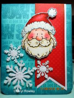 High Hopes - Santa Claus face - Cottage Creations by Cheryl Rowley