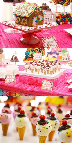 Un anniversaire Candy Land (if someday, I'll have to organize a party for a girl... who knows...)