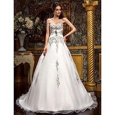 Classic & Timeless/Glamorous & Dramatic A-line Sweetheart Court Train Wedding Dress ( Chiffon ) – USD $ 229.99