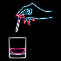 Kate Hush woman bye hand neon