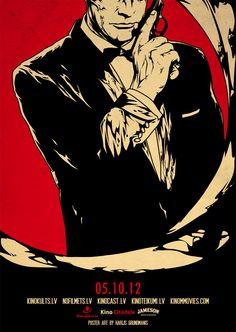 James Bond - Movie posters by Harijs Grundmanis, via Behance