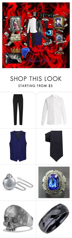 """Gallerian Marlon"" by toxic-coodere ❤ liked on Polyvore featuring Polaroid, 7 For All Mankind, Topman, Valentino, Calvin Klein, Bling Jewelry, David Yurman, GAVEL, Seletti and men's fashion"