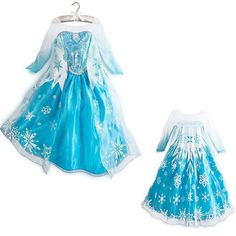 Blue Frozen Elsa Anna Costume Disney Princess Girl Kids Fancy Tulle Gown Dress #GL #preppystyle #Everyday