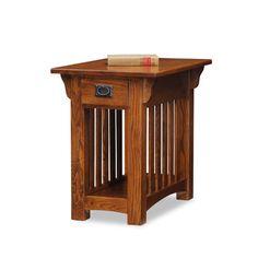 Leick Furniture Medium Oak Chair Side Table On SALE
