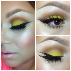 a Pop of Yellow #makeup
