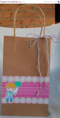 Heart Balloon Luka Gift Bag Handmade by JemLouProductions on Etsy, $2.80