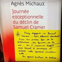 Journée exceptionnelle du déclin de Samuel Cramer d'Agnès Michaux @editionsbelfond  Coup de coeur d'Alexandre librairie Port Maria à Quiberon #book #livre #lespetitsmotsdeslibraires