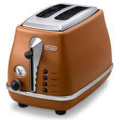 DeLonghi - Icona Vintage Etnica Brown Two Slice Toaster $122 love this colour too!