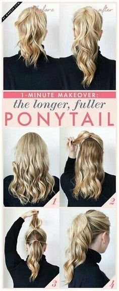 I know I have pinned this fuller and longer ponytail before but this is a different method