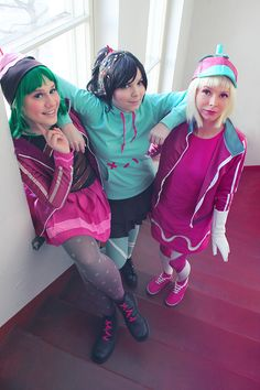 Perfect cosplay of Sugar Rush Racers <3