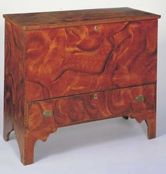 CHEST OVER DRAWER  Artist unidentified  New England  1825–1840  Paint on wood  35 x 40 1/4 x 19 in.  American Folk Art Museum