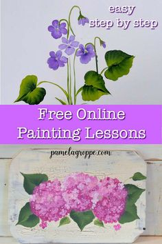 Free easy online painting lessons you can do in your own time. Step by step simple lessons to build painting skills and create beautiful art work you will be proud of. Build an online business selling your art work! Simple Acrylic Paintings, One Stroke Painting, Acrylic Painting Techniques, Easy Paintings, Learn Painting, Fence Painting, Matte Painting, Tole Painting, Painting Abstract