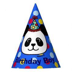#party - #Big Face Panda Cartoon Birthday Boy Hat