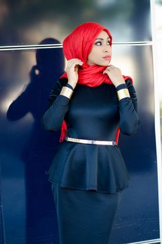 Peplum Maxi Dress | Pinned via HashtagHijab