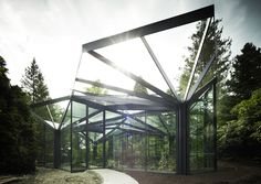 idA's Greenhouse Botanical Garden Grueningen is a Parametrically Designed Artificial Forest in Switzerland
