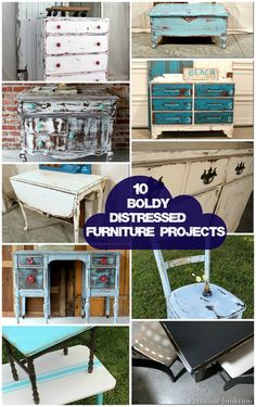 10 Boldly Distressed Furniture Projects, Petticoat Junktion