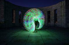 Painting With Light With An Electronic Hula Hoop l Photo Andrew S Gibson l #lightpainting #futurehoop