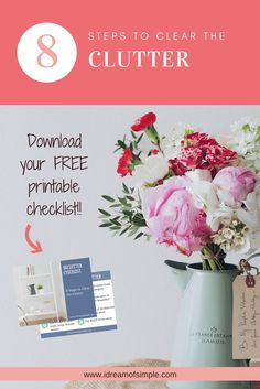 8 Steps to Clear the Clutter + Free Declutter Checklist - i Dream of Simple Working Mom Tips, Getting Rid Of Clutter, Clutter Organization, Declutter Your Home, Blog Love, All Family, Work From Home Moms, Feeling Overwhelmed, Simple Living