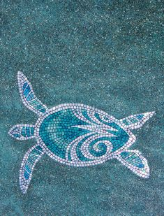 pictures of turtle mosiac in pool | home > other >turtles in the pool ... Latest Project