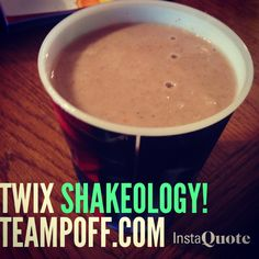 My cravings for a Twixcandy bar ANSWERED!!!! Twix Shakeo!! 1/2 scoop of choco shakeo 1/2 scoop of vanilla shakeo 1 teaspoon of caramel sauce 1 teaspoon of vanilla extract 1/3 cup of almond milk Water Ice BLEND Then sprinkle graham crackers on top. Yummy! Direct Links to ingredients not available in stores! *protein powder…
