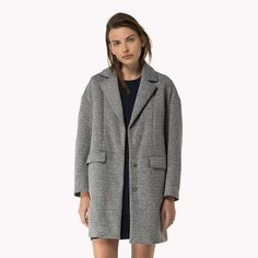 Tommy Hilfiger Manteau Midi - light grey - Tommy Hilfiger Manteaux - image…