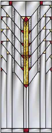 Prairie School Stained Glass  A Custom Collection inspired by Frank Lloyd Wright by Pompei & co