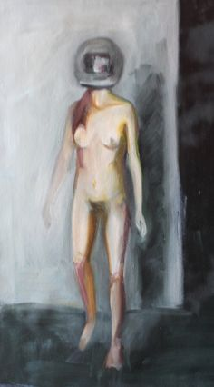 Adrienn Erdei - Sketch, oil on canvas, 55x31 cm, 2017.