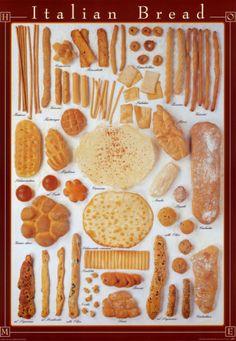 Italian breads galore. #italianbread #loaves #italiancooking   donpepino.com
